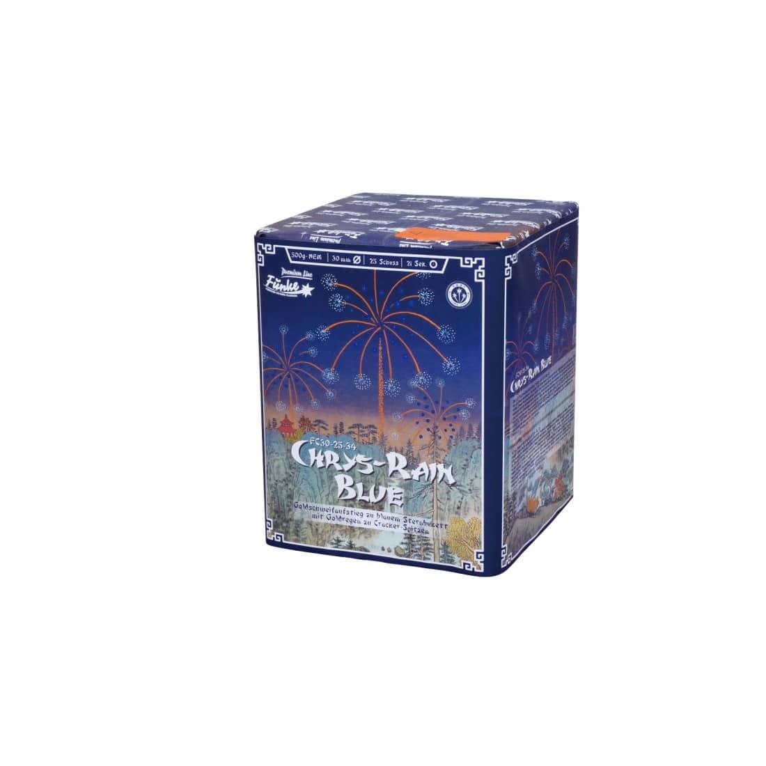 Funke Chrys-Rain Blue 25 Schuss Feuerwerksbatterie